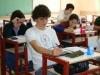 Espindola durante la prueba escrita