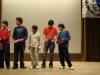 Vivanco con su grupo recibiendo el premio de Odisea Matematica
